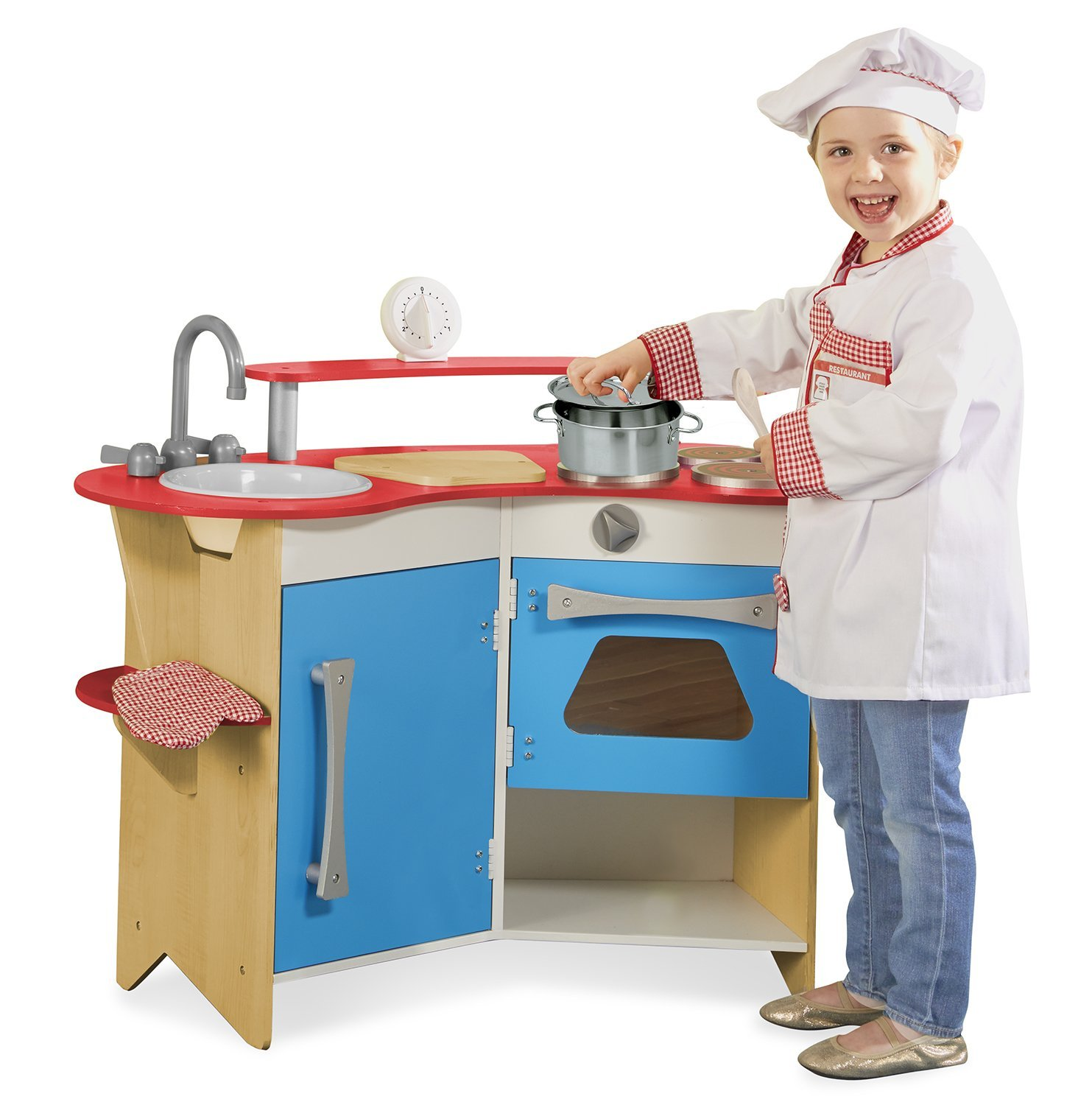 Melissa & Doug Cook\'s Corner Wooden Kitchen Review - Special Magic ...